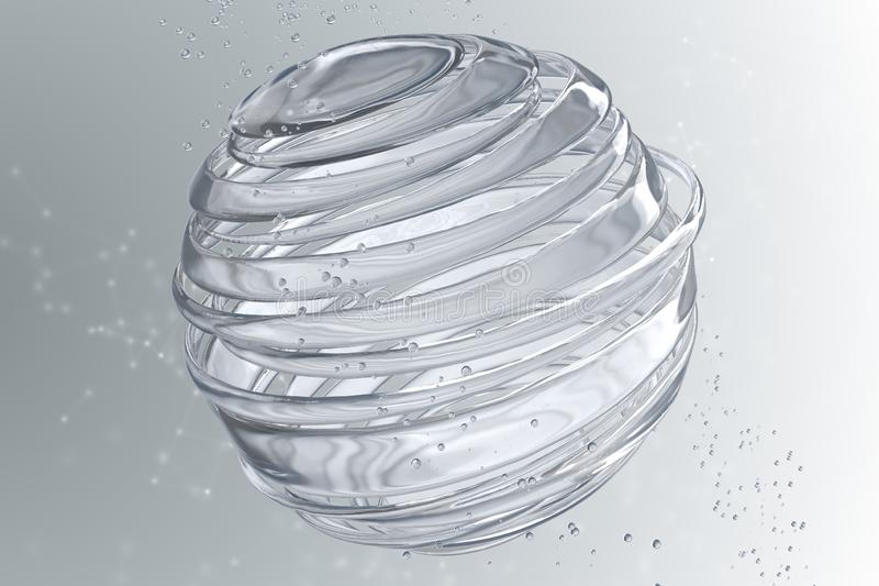 3D striped декоративные шарики иллюстрация штока