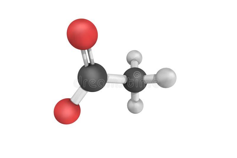 3d structuur van Acetaat, een zout door de combinatie van aas wordt gevormd die royalty-vrije illustratie