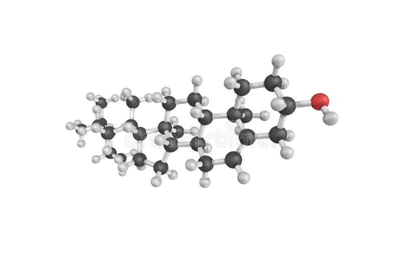 3d structuur van Beta sitosterol, één van verscheidene phytosterols pl stock illustratie