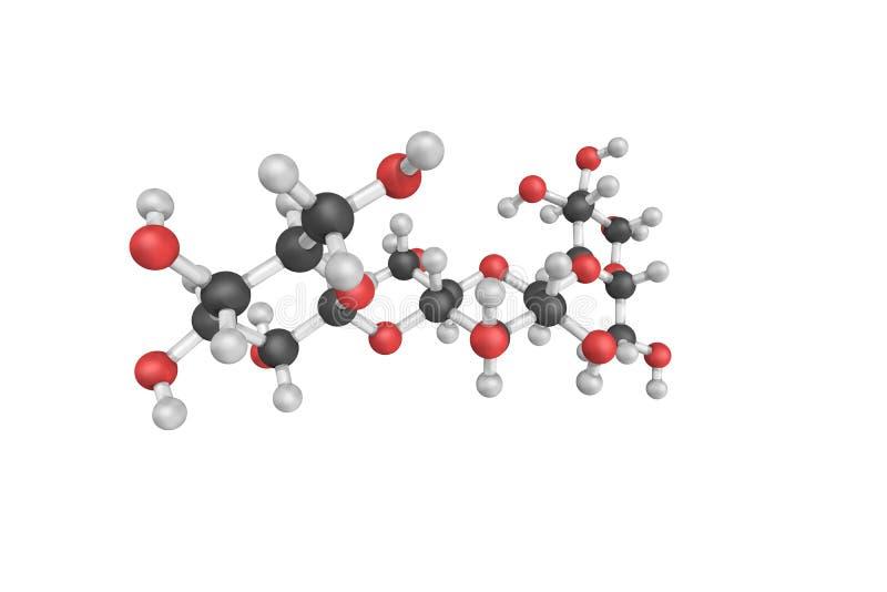 3d structuur van Cellulase, enzymen door paddestoelen, bedelaars voornamelijk worden geproduceerd die stock foto