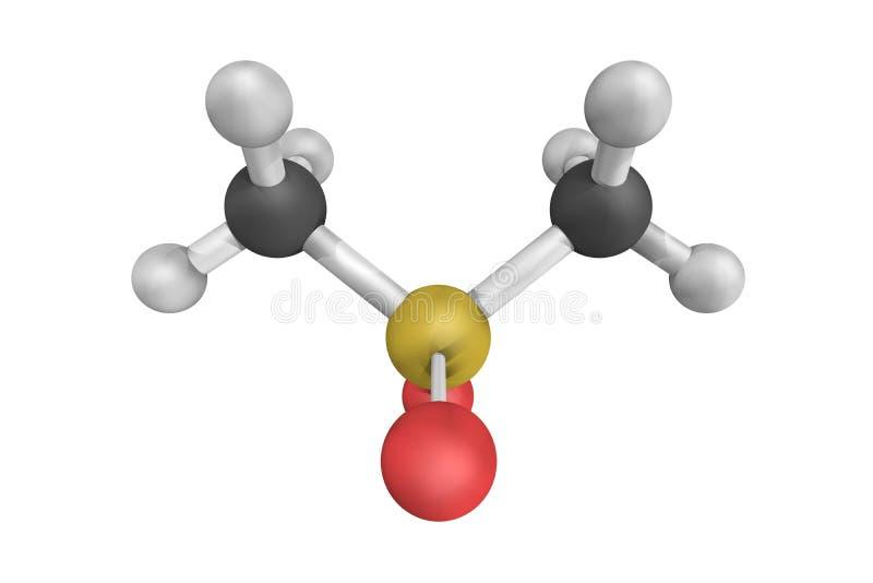 3d structuur van Methylsulfonylmethane MSM royalty-vrije illustratie