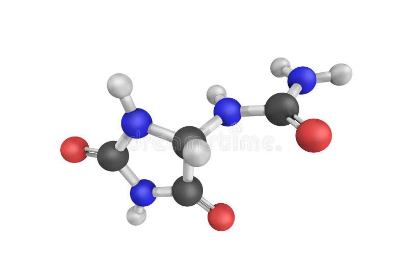 3d struktura allantoin, także dzwoniąca 5 ureidohydantoin ilustracji