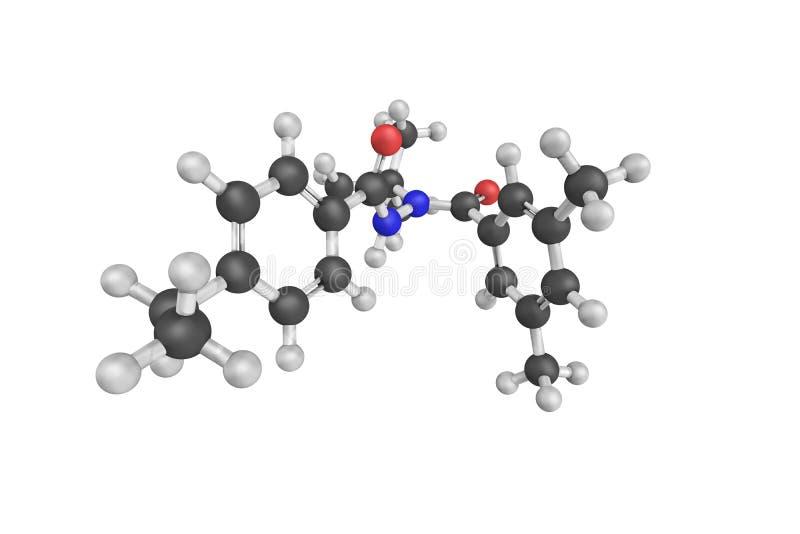 3d struktura Tebufenozide, flit który postępuje ilustracji