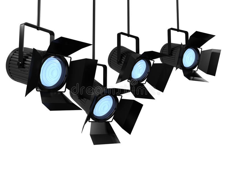 studio track lighting. 3d Render Of Studio Lighting Equipment Track