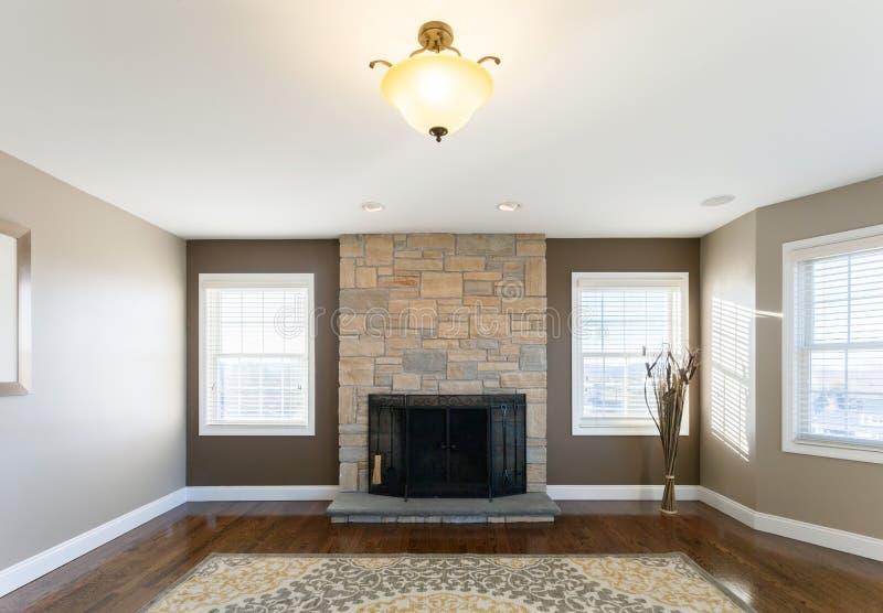 3d stwarzać ognisko domowe renderingu wewnętrznego żywego pokój fotografia royalty free