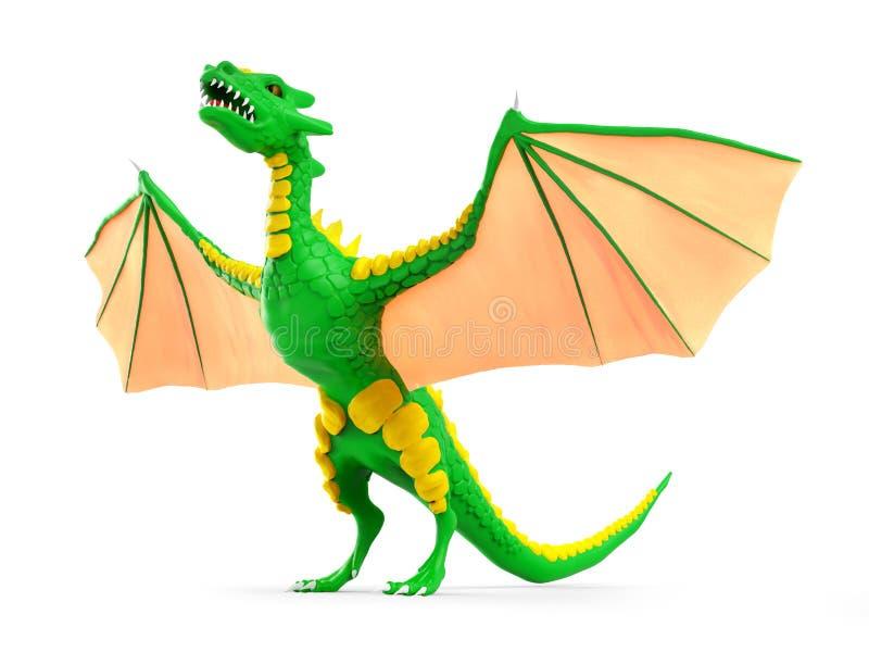 3d subido dragón libre illustration