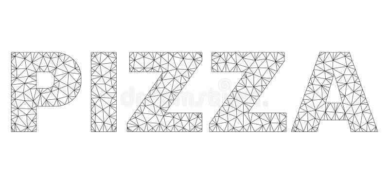 2D subt?tulo poligonal do texto da PIZZA ilustração do vetor