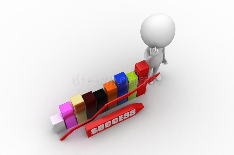 Download 3d  Success concept stock illustration. Image of leadership - 42521300