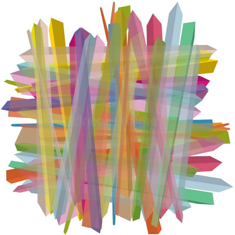 3D, superficies sacadas en los colores sombreados, un modelo abstracto stock de ilustración
