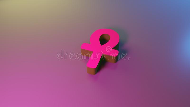 3d symbol ankh ikona odp?aca si? royalty ilustracja