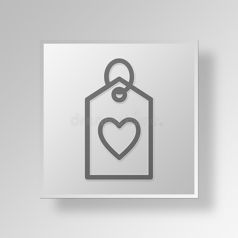 Download 3D Symbol Gray Square Heart Tag Button Stock Abbildung - Illustration von internet, gebläse: 90230541