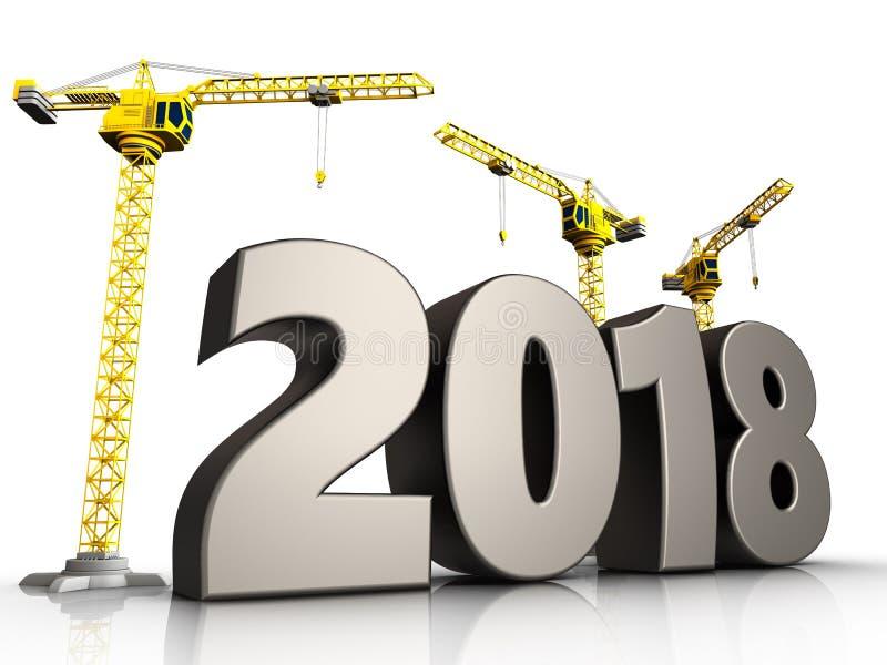 3d symbole de 2018 ans illustration libre de droits