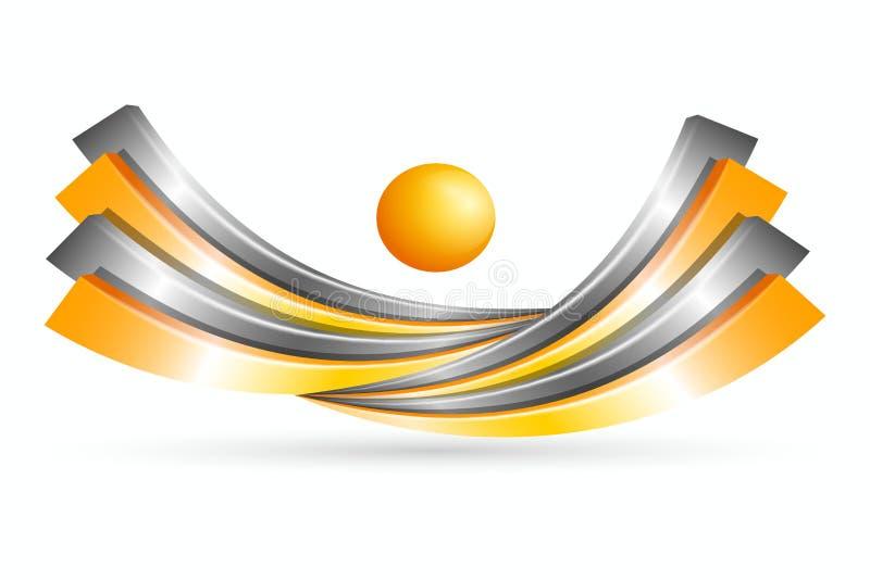 3d symbool creatief ontwerp stock illustratie