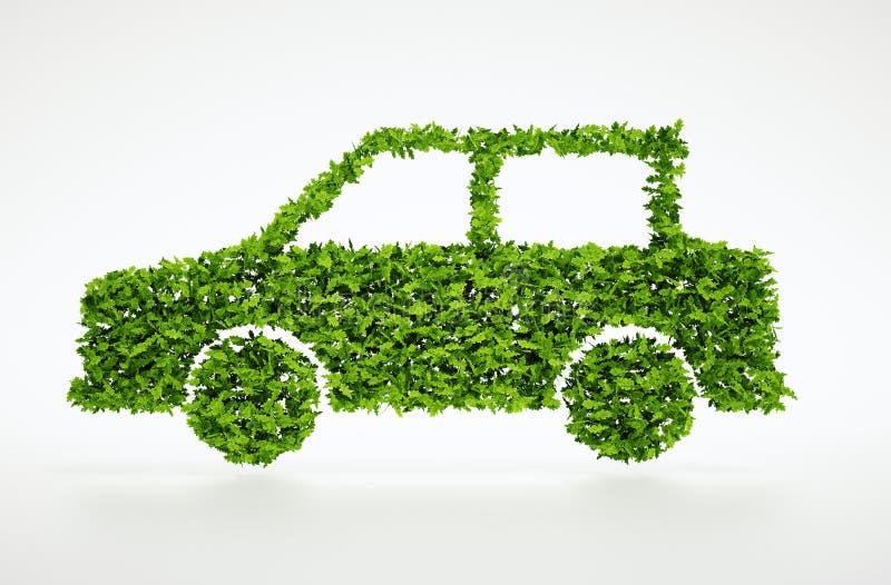 3d symbool van de ecologieauto stock foto's