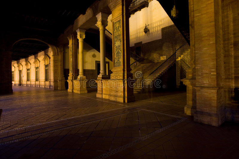 d szczegółu espagna plac Seville Spain fotografia royalty free
