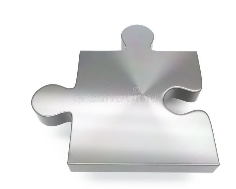 3d szczotkująca metal łamigłówki części ikona ilustracji