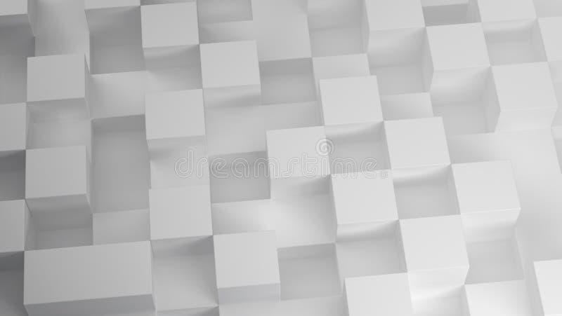 3D sześcianów wzór na białym tle royalty ilustracja