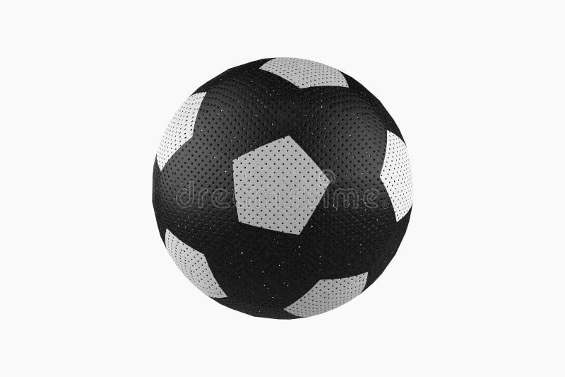 3d tła balowy pojęcia piłki nożnej sporta biel ilustracji