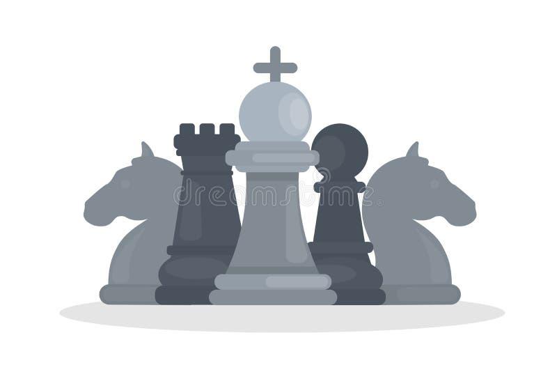 3d tła czerń szachy postacie wysoki wizerunek odpłacają się postanowienie royalty ilustracja