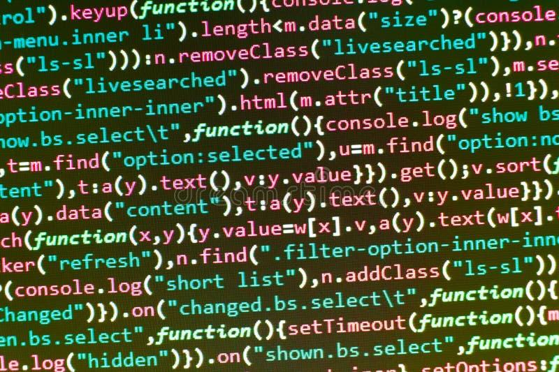 3d tła ilustraci odosobniony optymalizacja seo biel Oprogramowanie abstrakta tło Kodować pismo tekst na ekranie Wystawiać program zdjęcie royalty free