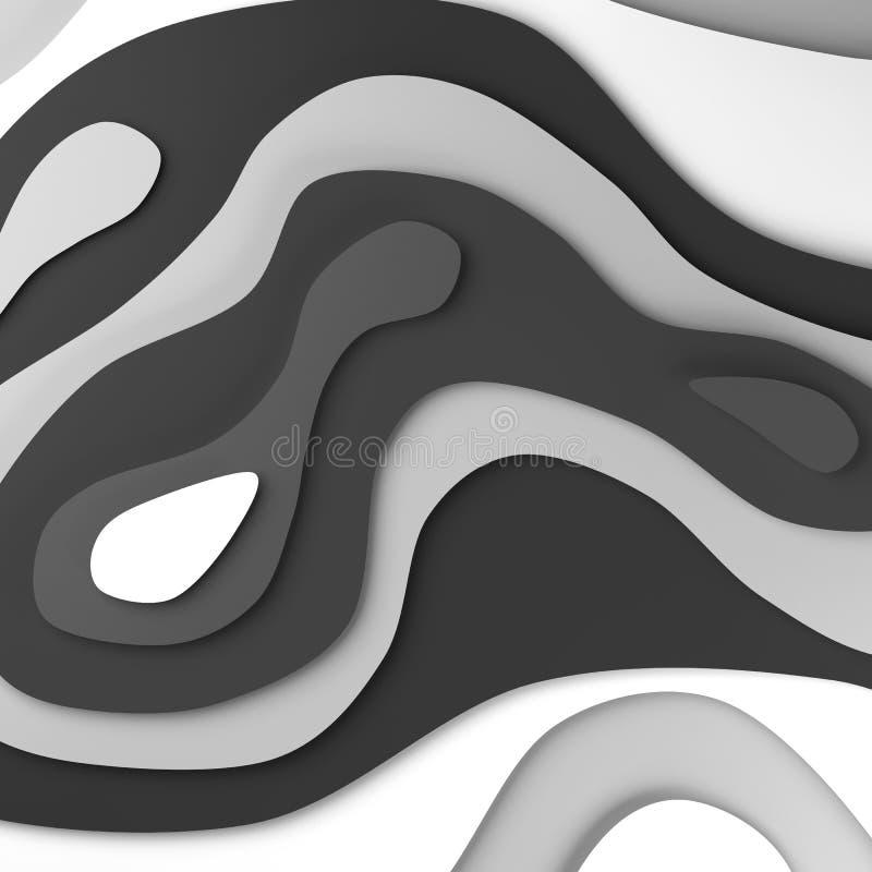 3D tła papieru cięcia abstrakcjonistyczni kształty ilustracji