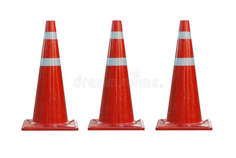 3d tła rożków wizerunek odizolowywający ruch drogowy biel zdjęcie stock