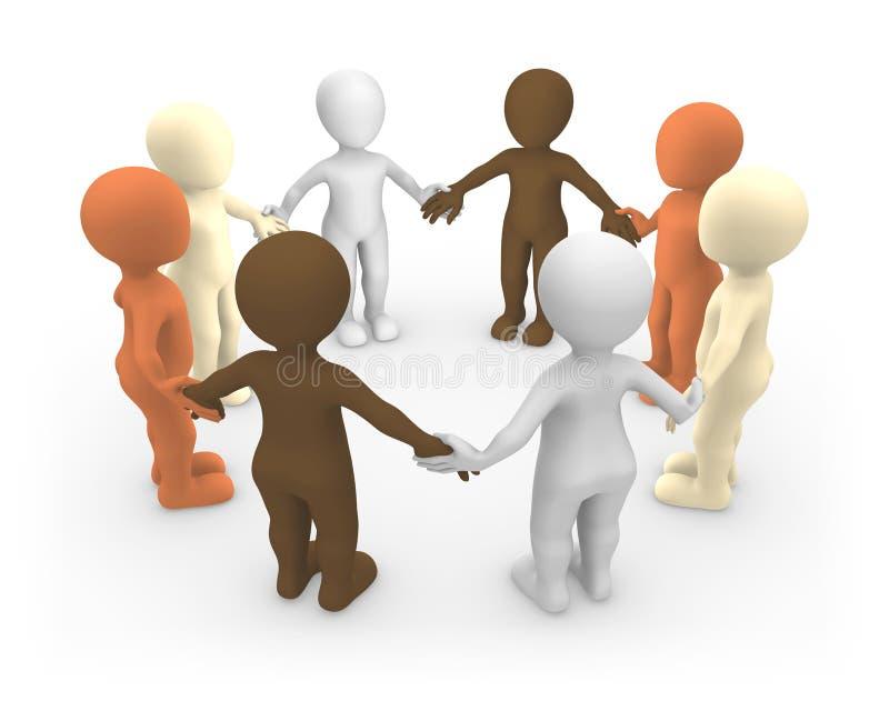 3d tła wizerunek odizolowywający ludzie małego biel Pokoju i jedności pojęcie ilustracji