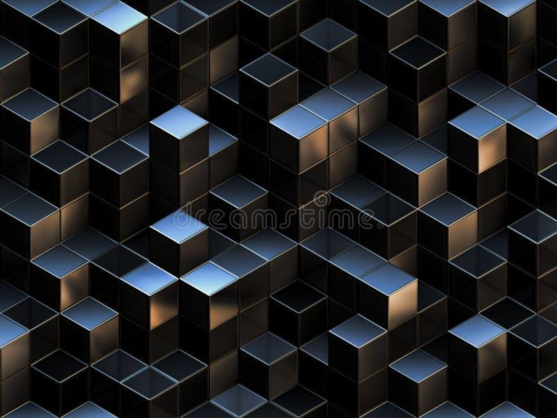 3d tło abstrakcjonistyczni sześciany ilustracji