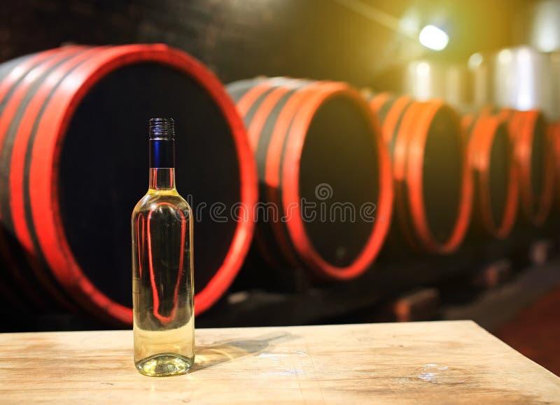 3d tło baryłki modelują biały wino obraz stock
