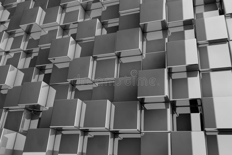 3D tło od tekstura sześcianów ilustracja wektor