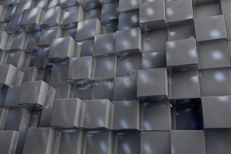3D tło od tekstura sześcianów ilustracji