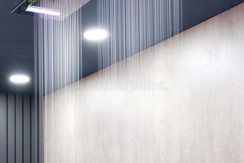 D?tail de douche moderne de plafond photographie stock