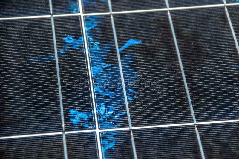 D?tail de panneau solaire, source photovolta?que et alternative de l'?lectricit?, texture de panneau solaire images stock