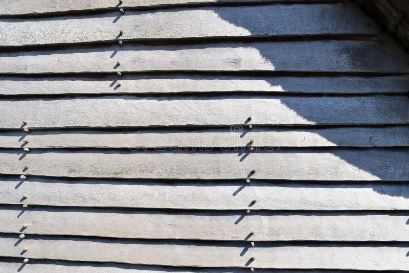 D?taill? ?troitement vers le haut de la vue sur diff?rentes surfaces en bois montrant des rondins de planches et des murs en bois photographie stock libre de droits