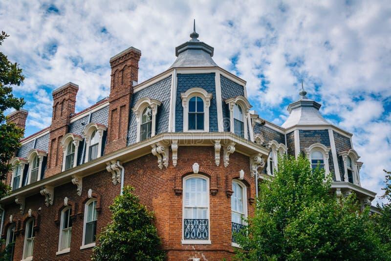 D?tails architecturaux d'une maison ? Georgetown, Washington, C.C photos stock