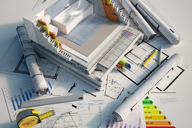 D?tails de construction de salle de bains images stock