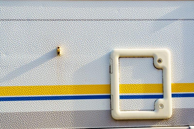 D?tails de porte de toilette de campeur photographie stock