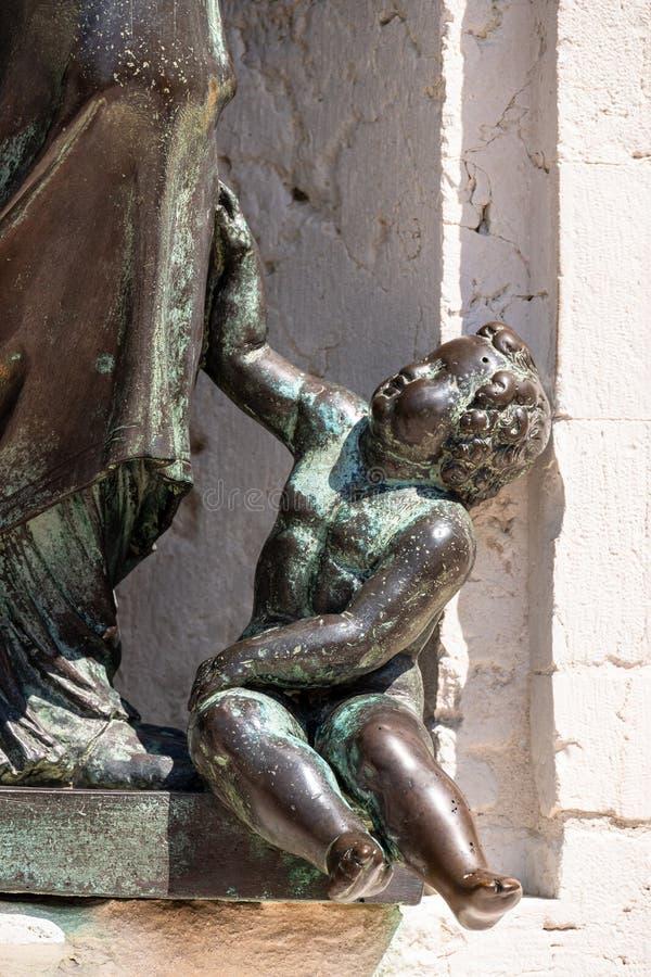 d?tails du della Santa Casa de basilique en Italie Marche image libre de droits