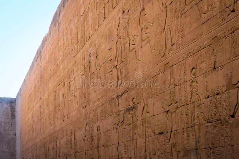 D?tails du temple d'Edfu ?gypte photographie stock libre de droits