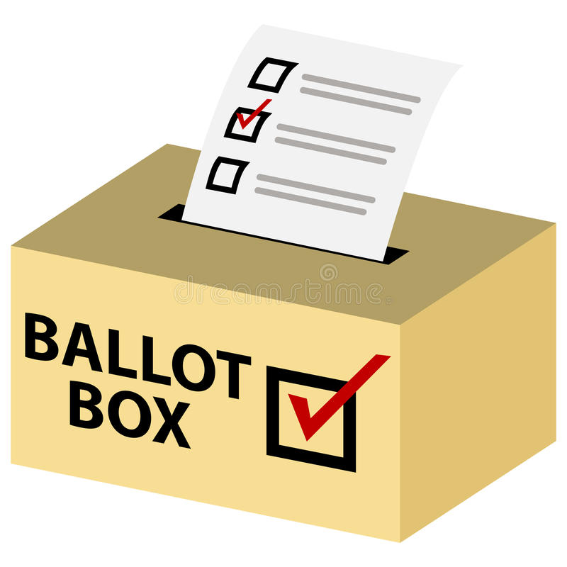 3d tajnego głosowania pudełko royalty ilustracja