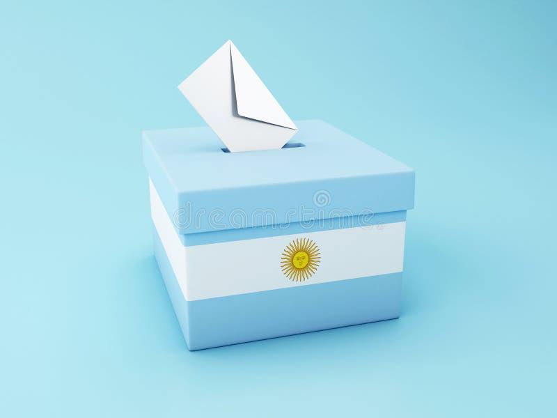3d tajnego głosowania pudełko, Argentyna wybory 2019 ilustracji
