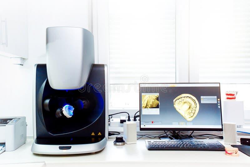 3D tandmachine van het computeraftasten stock afbeelding