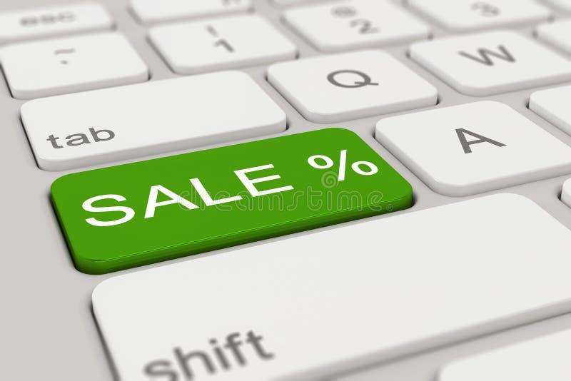 3d - tangentbord - försäljning - gräsplan stock illustrationer