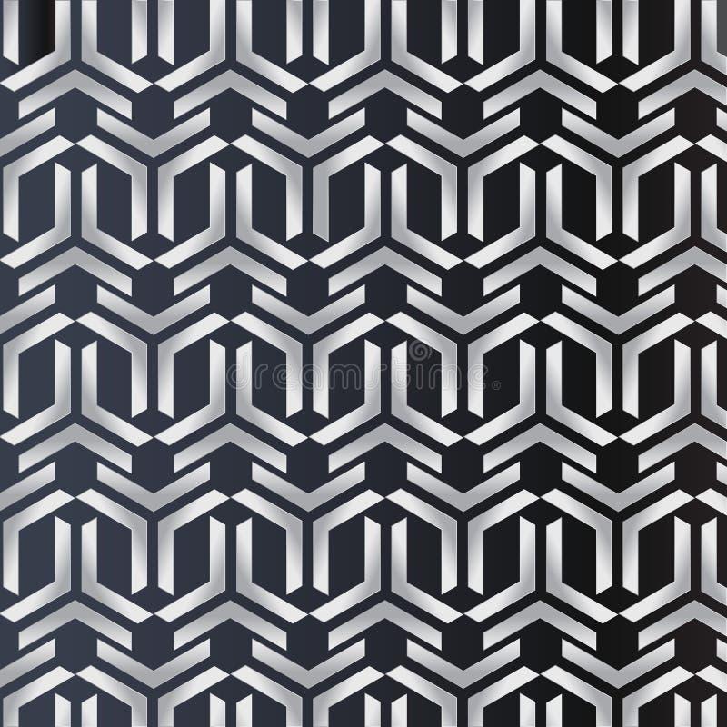 3D tapezieren Kunstdesigndreieckgeometriekreuz-Vektormuster stock abbildung