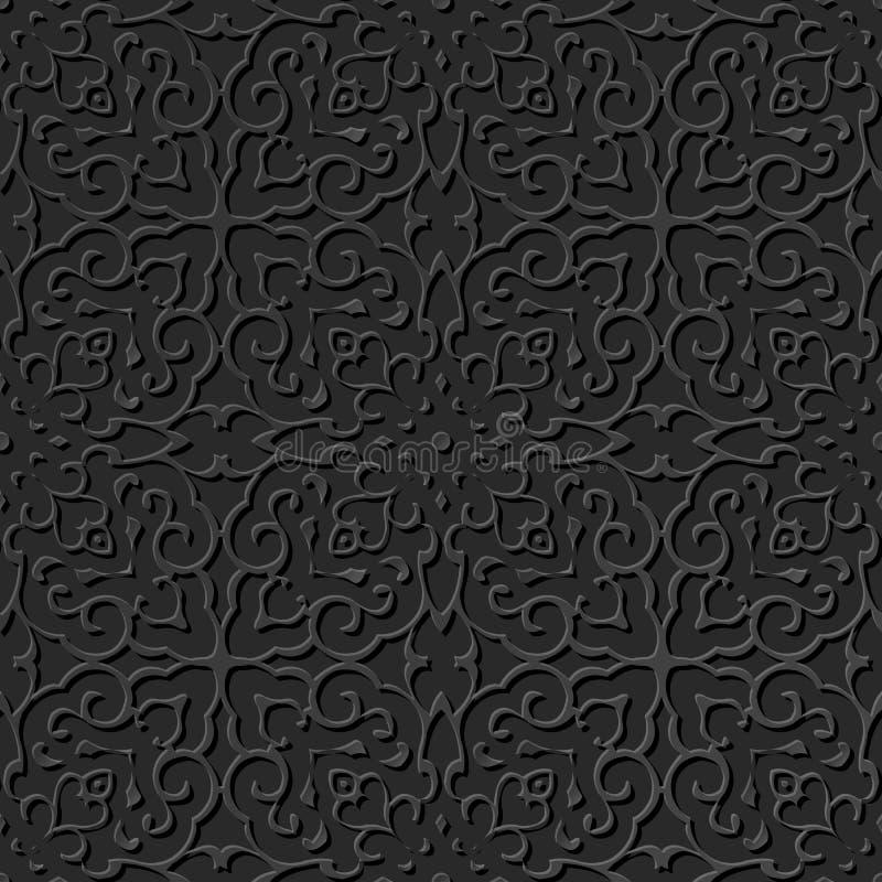 3D tapezieren Kunstmusterspiralenkurvenkreuz-Kaleidoskoprahmen lizenzfreie abbildung