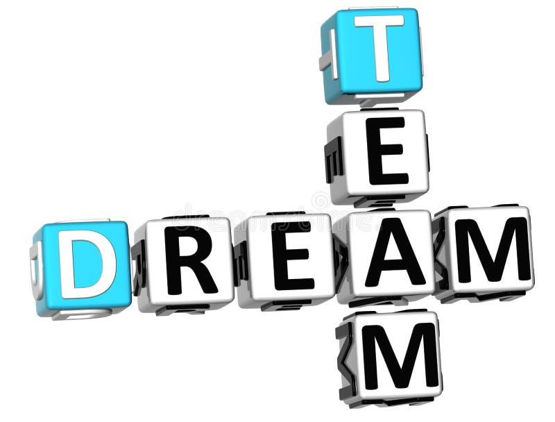 3D Team Dream Crossword illustration de vecteur