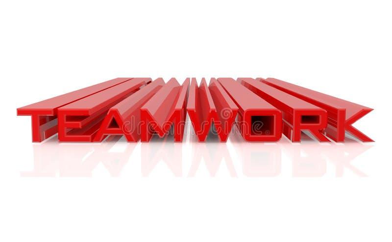3D TEAMWORK word σε λευκό φόντο 3d απόδοση απεικόνιση αποθεμάτων