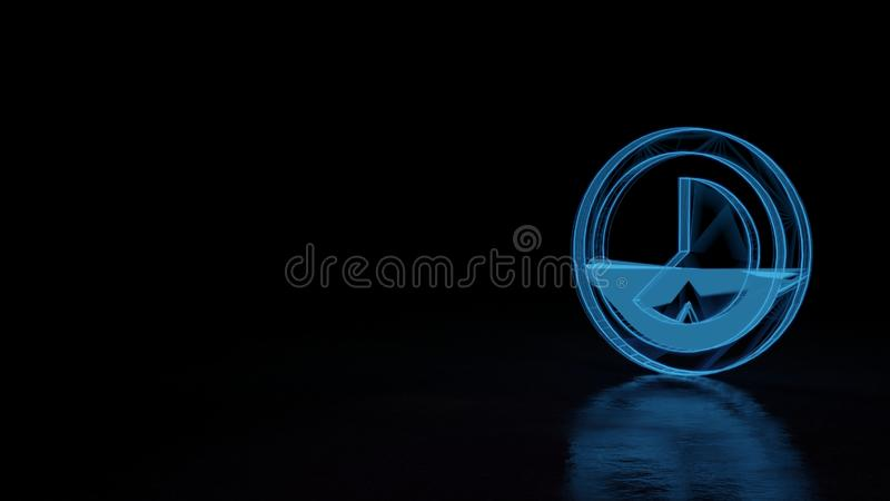 3d glowing wireframe symbol of symbol of photo  isolated on black background vector illustration