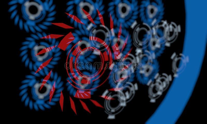 3d Technolijnen van achtergrond, royalty-vrije illustratie