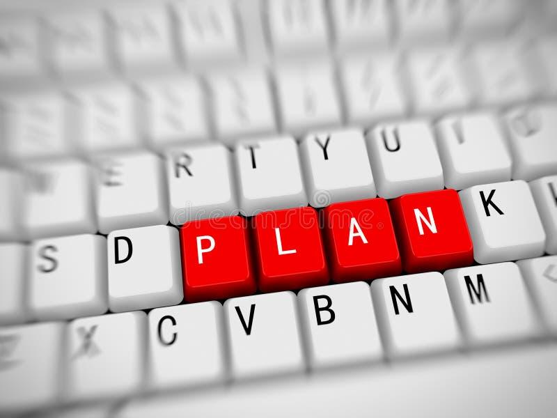 3d teclado - plan de la palabra libre illustration